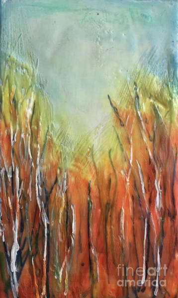 Painting - Orange Forest by Christine Chin-Fook
