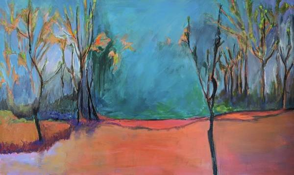 Painting - Orange Lake by Jillian Goldberg