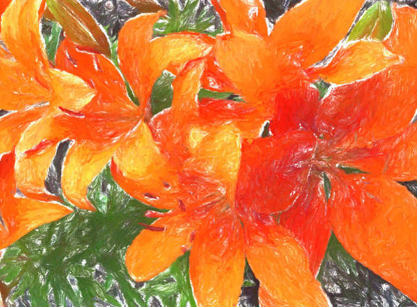 Painting - Orange Lilies by Dan Sproul