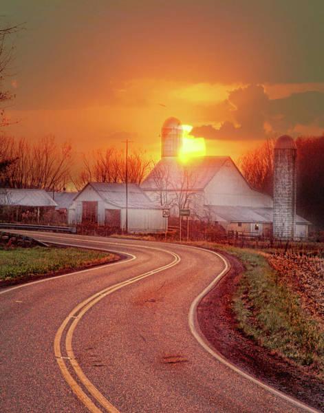 Wall Art - Digital Art - Orange Ohio Sunset by Jack Hunt