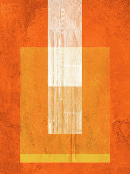 Wall Art - Painting - Orange Paper II by Naxart Studio