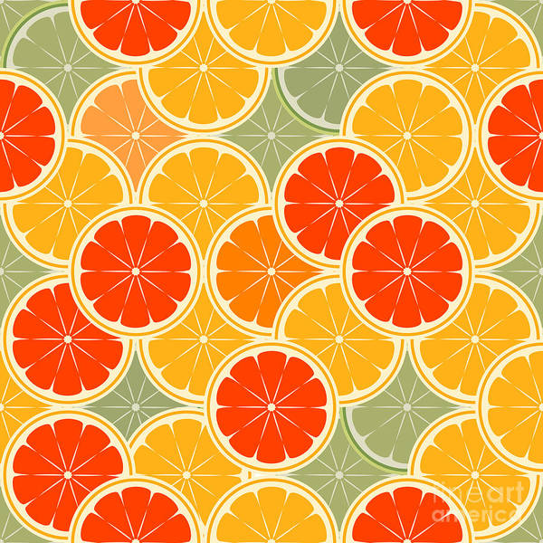 Health Wall Art - Digital Art - Orange Paradise -seamless by Averin