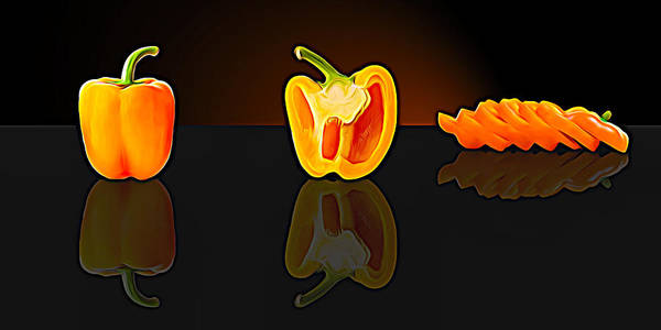 Photograph - Orange Pepper by Paul Wear