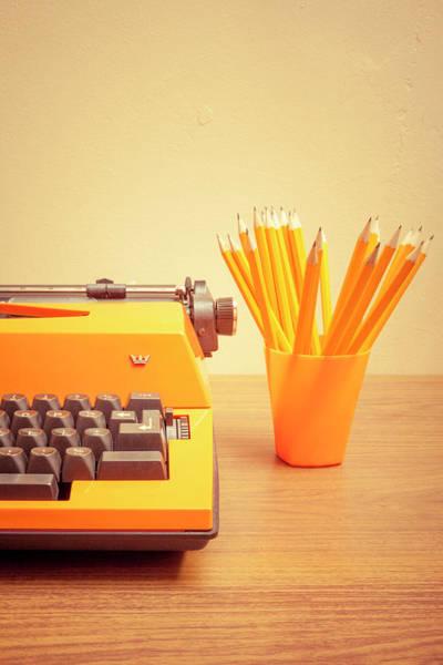 1972 Photograph - Orange Portable Typewriter 07 by Richard Nixon