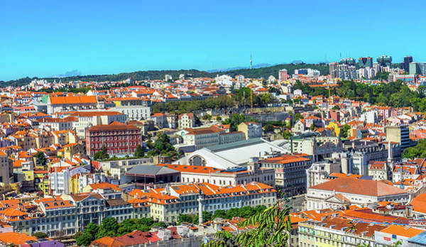 Wall Art - Photograph - Orange Roofs Market, Lisbon, Portugal by William Perry