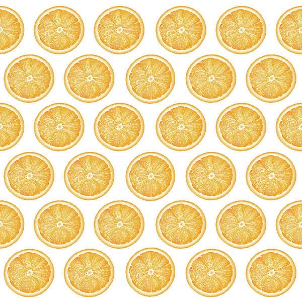 Orange Slice Pattern 1 - Tropical Pattern - Tropical Print - Lemon - Orange - Fruit - Tangerine Art Print