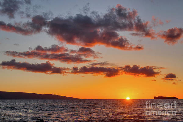 Andrew Jackson Wall Art - Photograph - Orange Sunset In Maui Hawaii  by Andrew Jackson