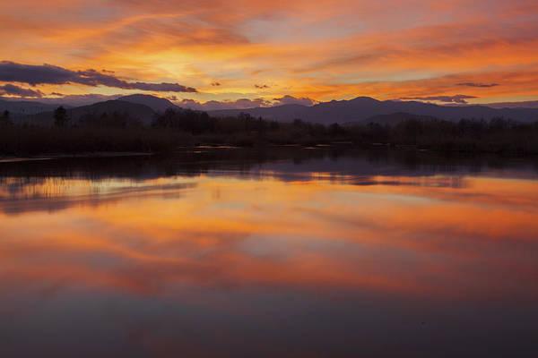 Photograph - Orange Sunset On The Pond by Daniele Fanni