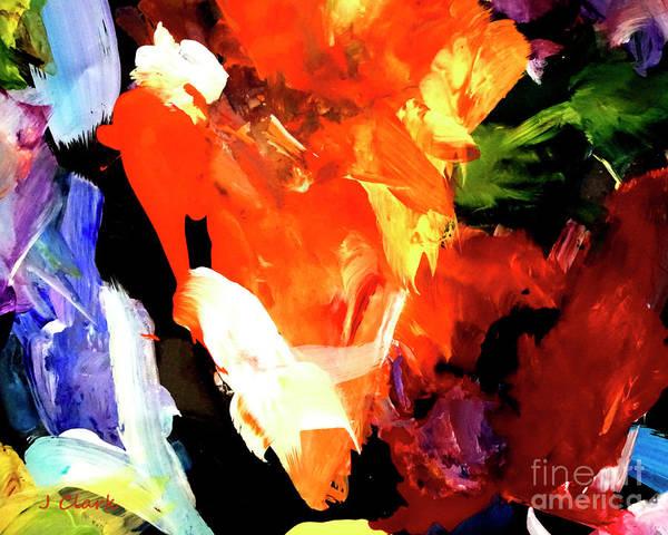 Triangles Painting - Orange Triangle by John Clark
