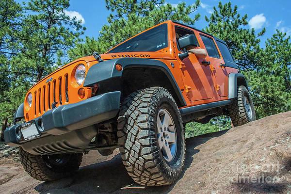 Photograph - Orange Wrangler Rubicon by Tony Baca
