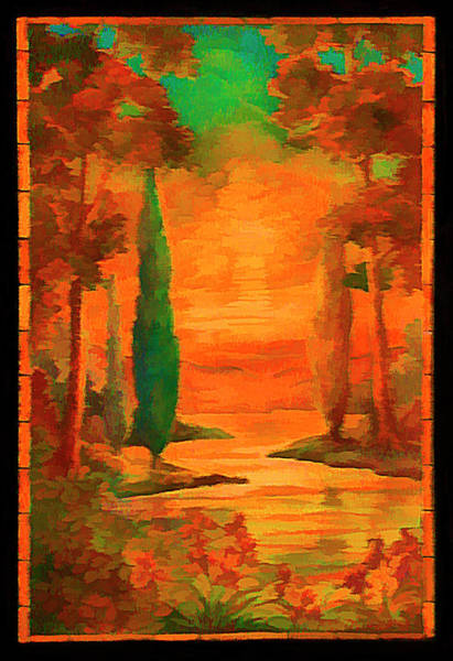 Digital Art - Orangelic by Rick Wicker