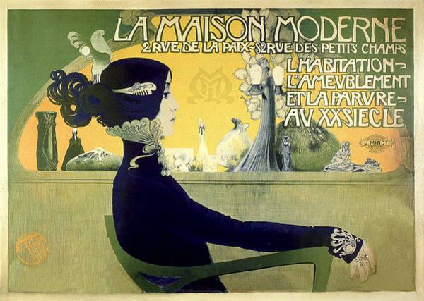 Painting - Orazi Manuel 1905 Vintage French Advertising Fashion by Vintage French Advertising