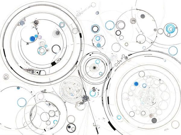 Wall Art - Drawing - Orbital Mechanics by Regina Valluzzi