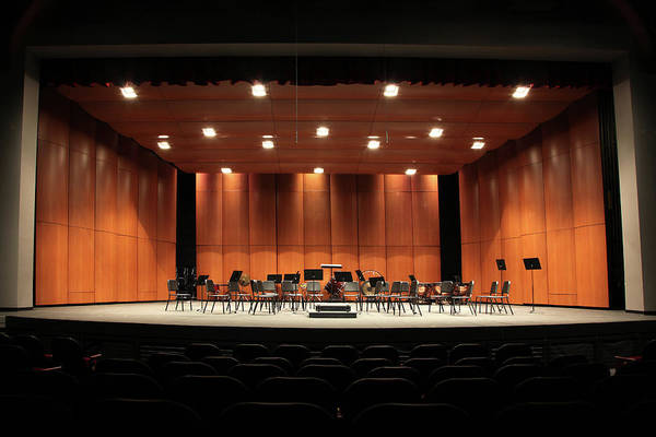 Auditorium Photograph - Orchestra Seats On Stage by Yenwen