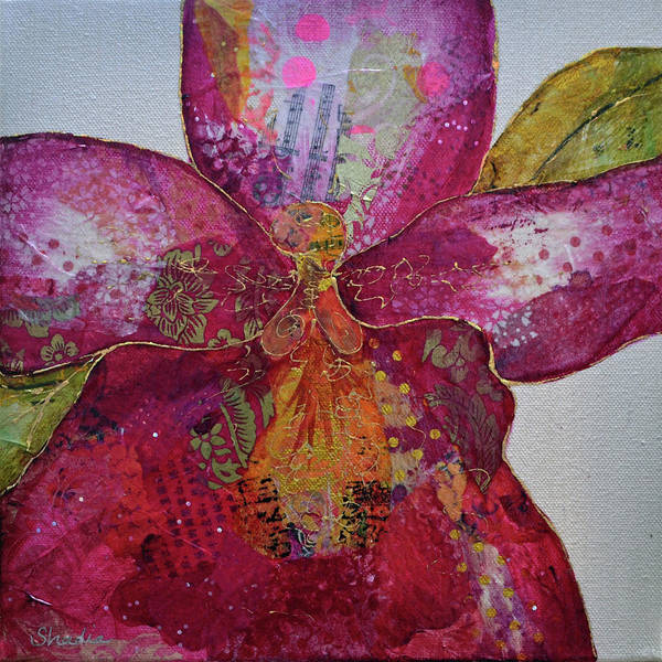 Close-up Painting - Orchid Passion II by Shadia Derbyshire
