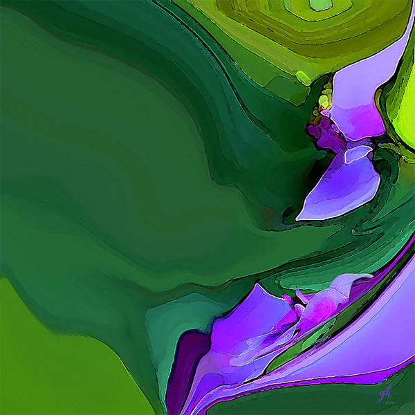 Digital Art - Orchids And Emeralds by Gina Harrison