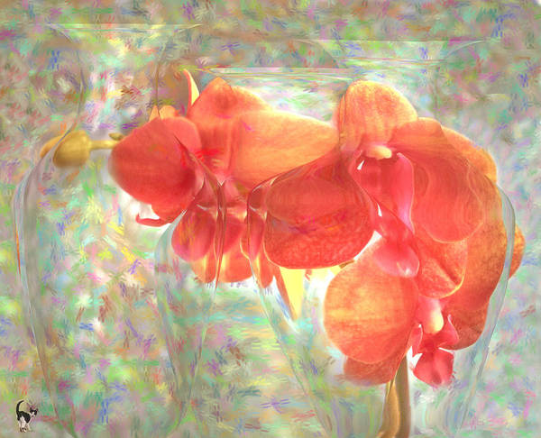 Wall Art - Photograph - Orchids And Vases Impresionism by Joyce Dickens