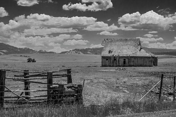 Photograph - Oregon Barn In Black And White by Matthew Irvin
