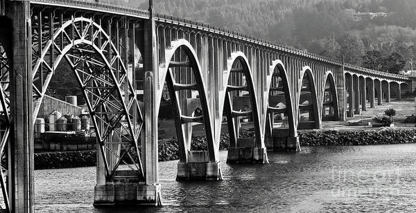 Wall Art - Photograph - Oregon Bridge In Black And White by American School