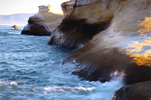 Photograph - Oregon Coast Cape Kiwanda Oil 051019 by Rospotte Photography