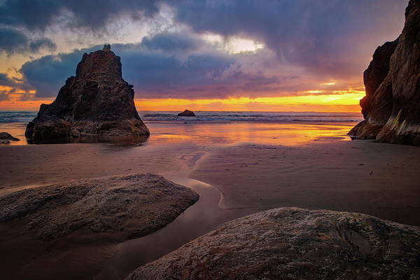Photograph - Oregon Coast Sunset by Carolyn Derstine