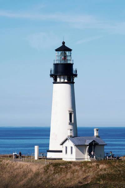 Photograph - Oregon Coast Yaquina Lighthouse V3 by Rospotte Photography