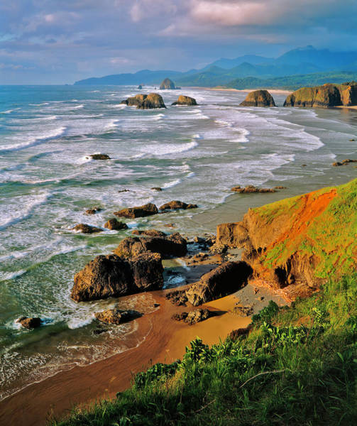 Ecola State Park Photograph - Oregons Stormy And  Rocky Coastline Pg by Ron thomas