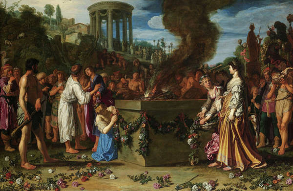 Wall Art - Painting - Orestes And Pylades Disputing At The Altar, 1614 by Pieter Lastman
