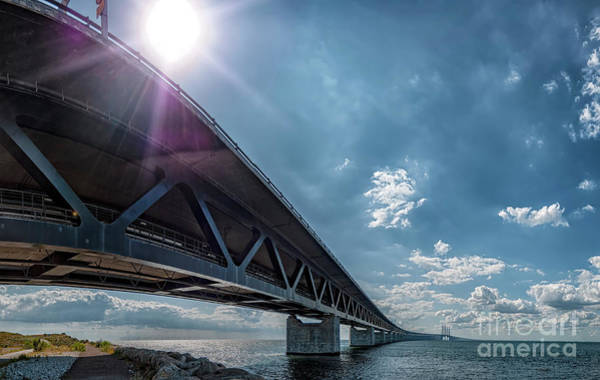 Wall Art - Photograph - Oresundsbron From Swedish Side by Antony McAulay
