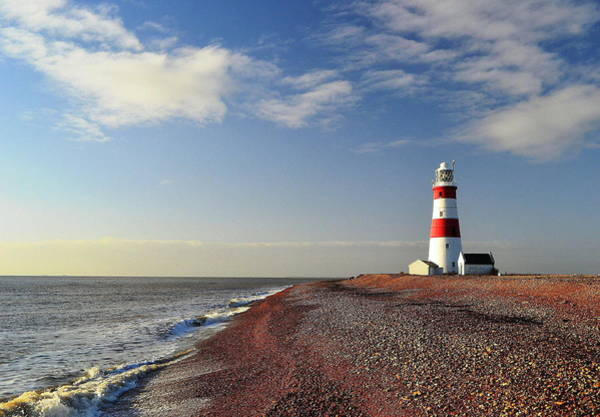 Waters Edge Wall Art - Photograph - Orford Ness Lighthouse by Photo By Andrew Boxall