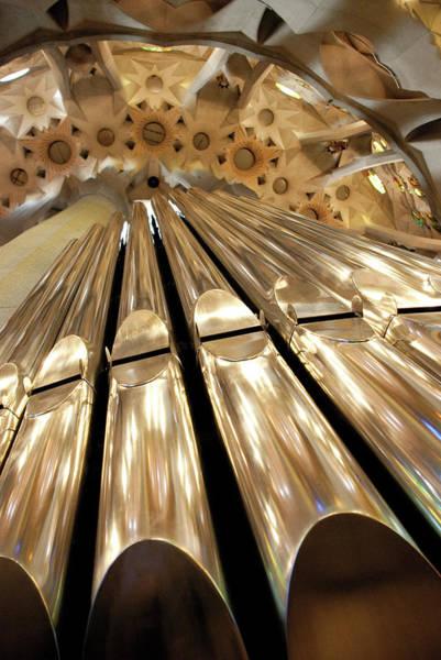 Pipe Organ Photograph - Organ At Sagrada Familia Cathedral In by Laura Rangel Copyright