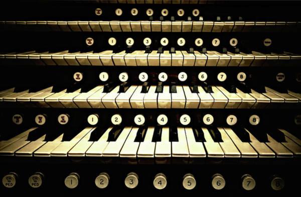 Pipe Organ Photograph - Organ Keys by Michelle Mcmahon