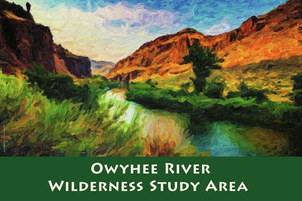 Digital Art - Owyhee River Wsa by Chuck Mountain