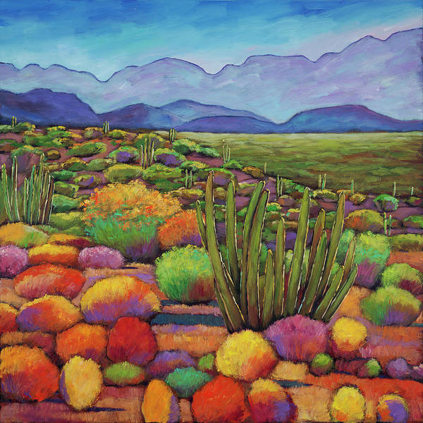 Vibrant Color Wall Art - Painting - Organ Pipe by Johnathan Harris