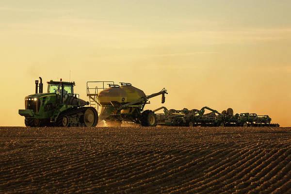 Photograph - Organic Wheat Seeding by Todd Klassy