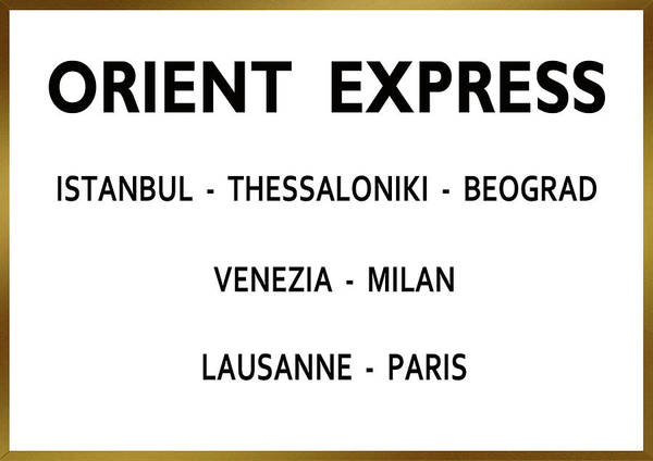 From Russia With Love Wall Art - Mixed Media - Orient Express, Train Station Sign, From Russia With Love, Ian Fleming by Thomas Pollart