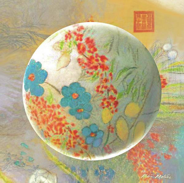 Digital Art - Oriental Floralscape  by Robin Moline