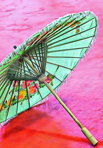 Photograph - Oriental Green Parasol by Dorothy Berry-Lound