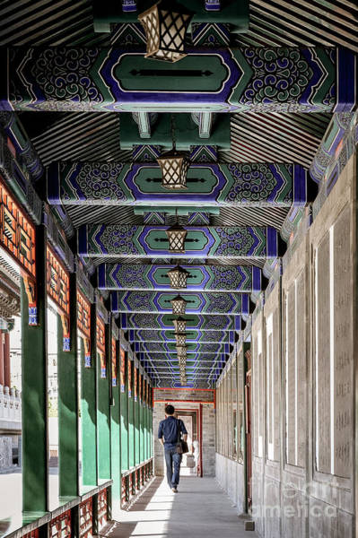 Photograph - Oriental Hallway by Iryna Liveoak