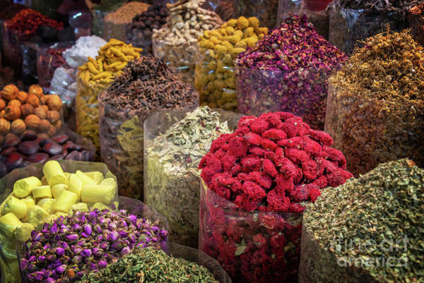 Wall Art - Photograph - Oriental Spices Market by Delphimages Photo Creations