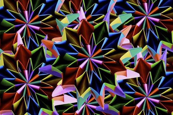 Wall Art - Mixed Media - Origami Fireworks by Origami Style Carlotta Cristiani