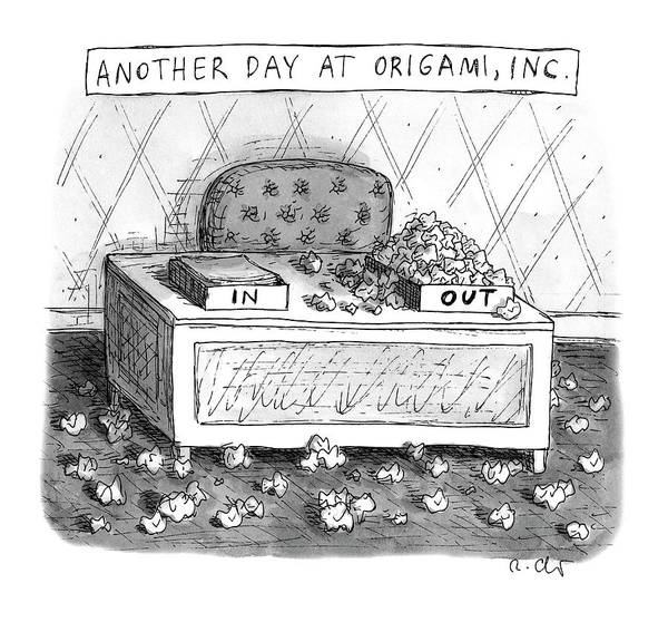 Copy Drawing - Origami, Inc. by Roz Chast