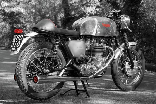 Triumph Motorcycle Wall Art - Photograph - Original Cafe Racer by Mark Rogan
