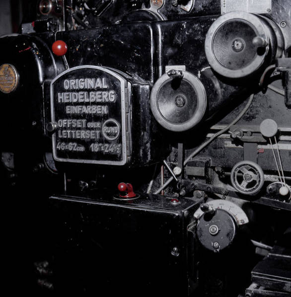 Photograph - Original Heidelberg Offset Press by Doc Braham