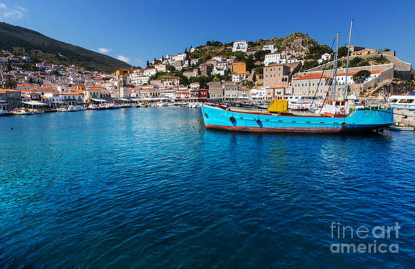 Wall Art - Photograph - Original Hydra Island In Greece by Galyna Andrushko