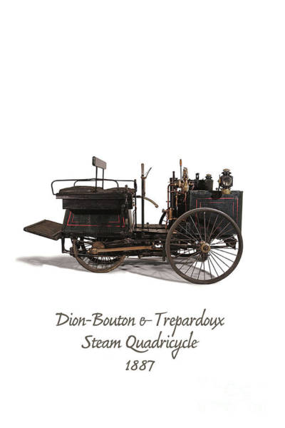 Compound Mixed Media - Original Steam Carriage From 1887 by Patricia Hofmeester
