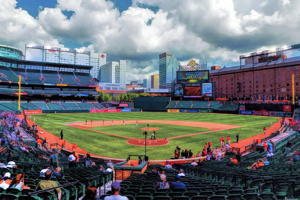 Painting - Oriole Park Baltimore Orioles Baseball Ballpark Stadium by Christopher Arndt