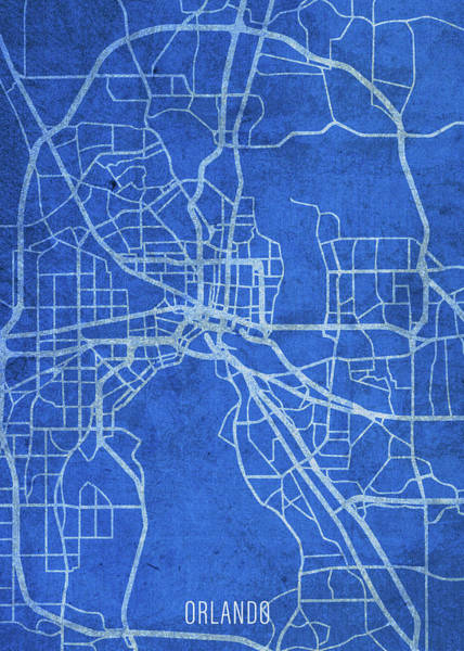 Wall Art - Mixed Media - Orlando Florida City Street Map Blueprints by Design Turnpike