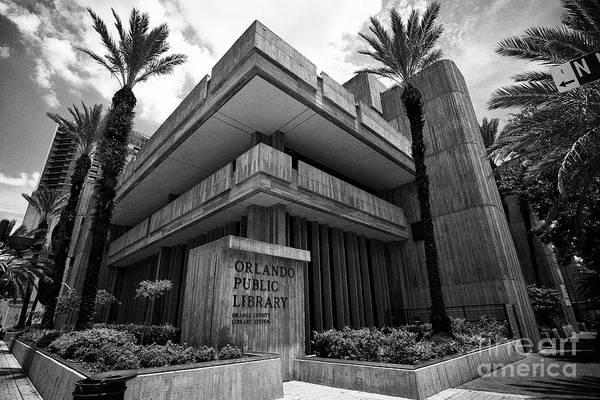Wall Art - Photograph - Orlando Public Library Building Orlando Florida Usa by Joe Fox