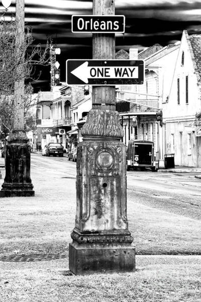 Wall Art - Photograph - Orleans Street One Way Sign by John Rizzuto